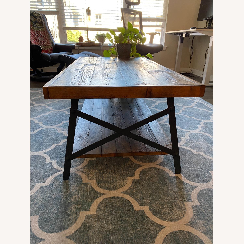 Wood and Metal Coffee Table - image-2