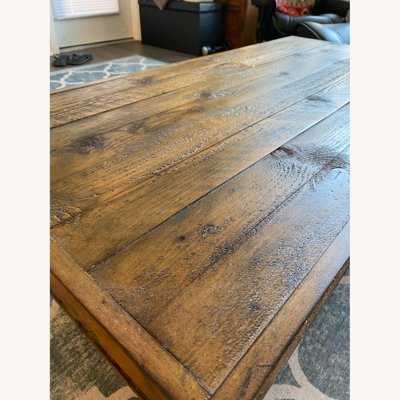 Wood and Metal Coffee Table - image-3