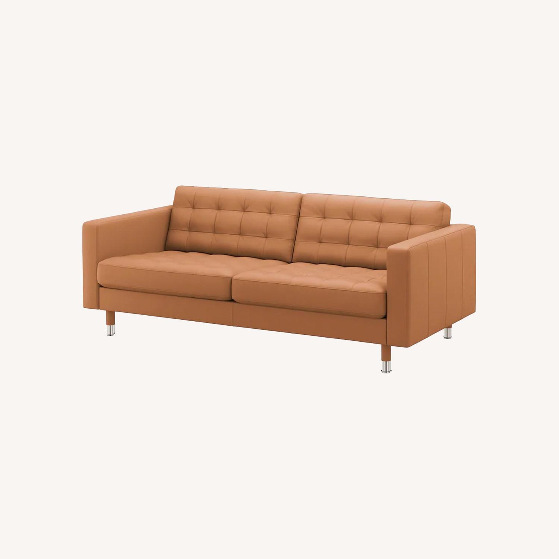 IKEA MORABO Sofa, Grann/Bomstad Golden Brown/Metal - image-0