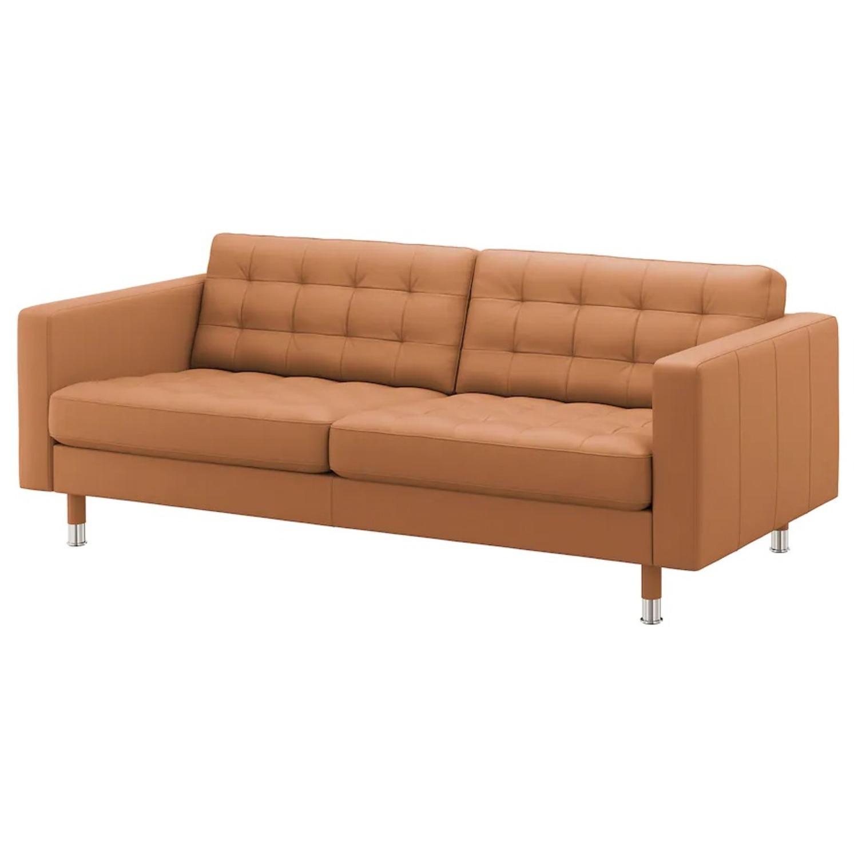 IKEA MORABO Sofa, Grann/Bomstad Golden Brown/Metal - image-1