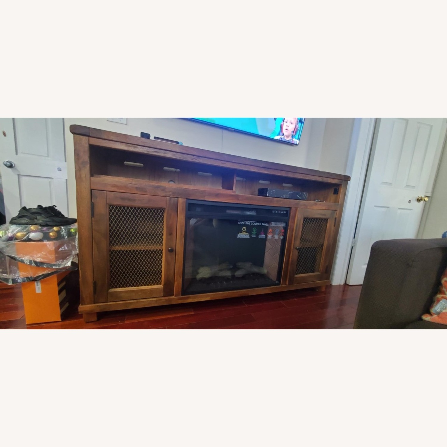 Ashley Furniture Credenza with a Fire Place, TV Stand - image-1