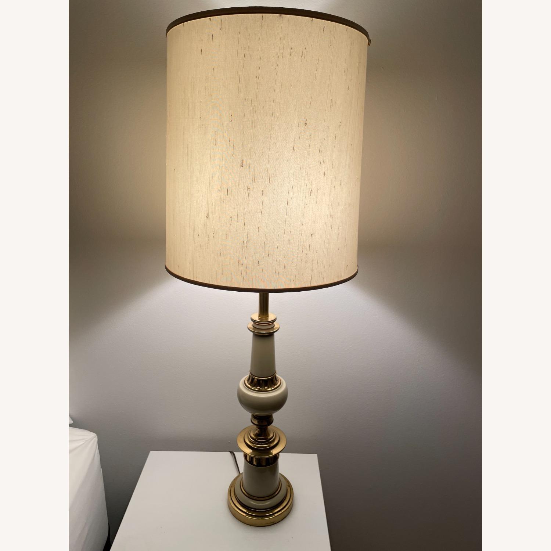 Vintage Gold Floor Lamp - image-1