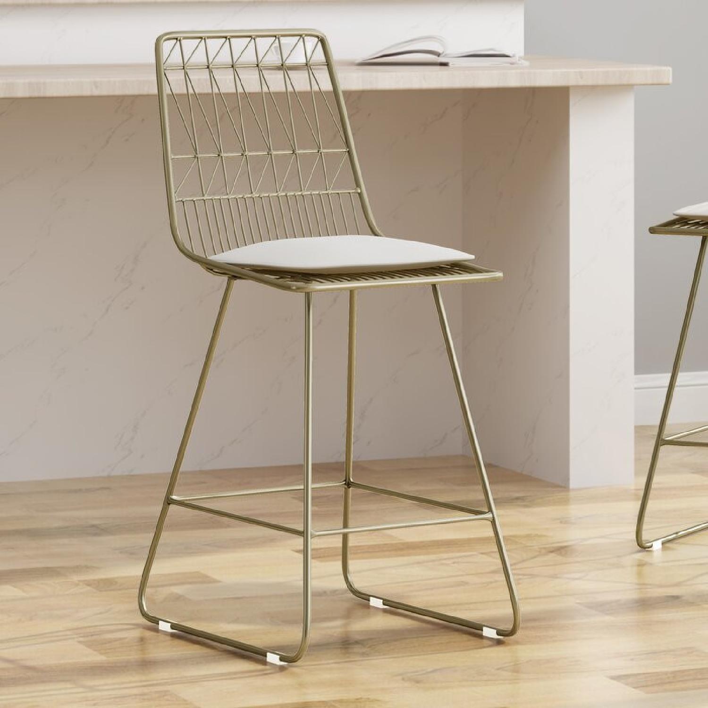 Wayfair Mid Century Modern Gold Chairs - image-7
