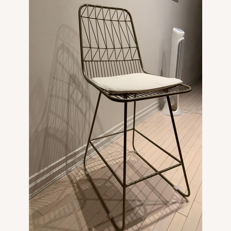 Wayfair Mid Century Modern Gold Chairs - image-1