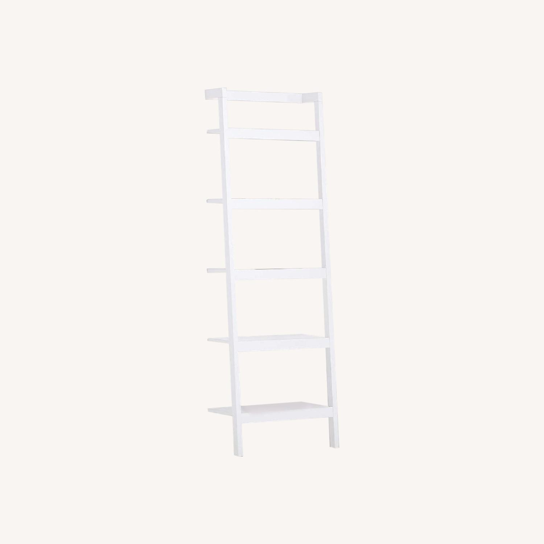 "Crate & Barrel Sawyer White Leaning 24.5"" Bookcase - image-0"