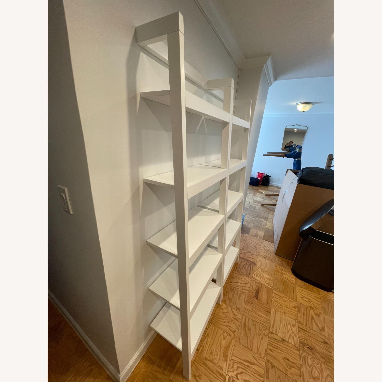 "Crate & Barrel Sawyer White Leaning 24.5"" Bookcase - image-3"