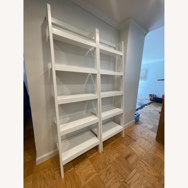 "Crate & Barrel Sawyer White Leaning 24.5"" Bookcase - image-2"