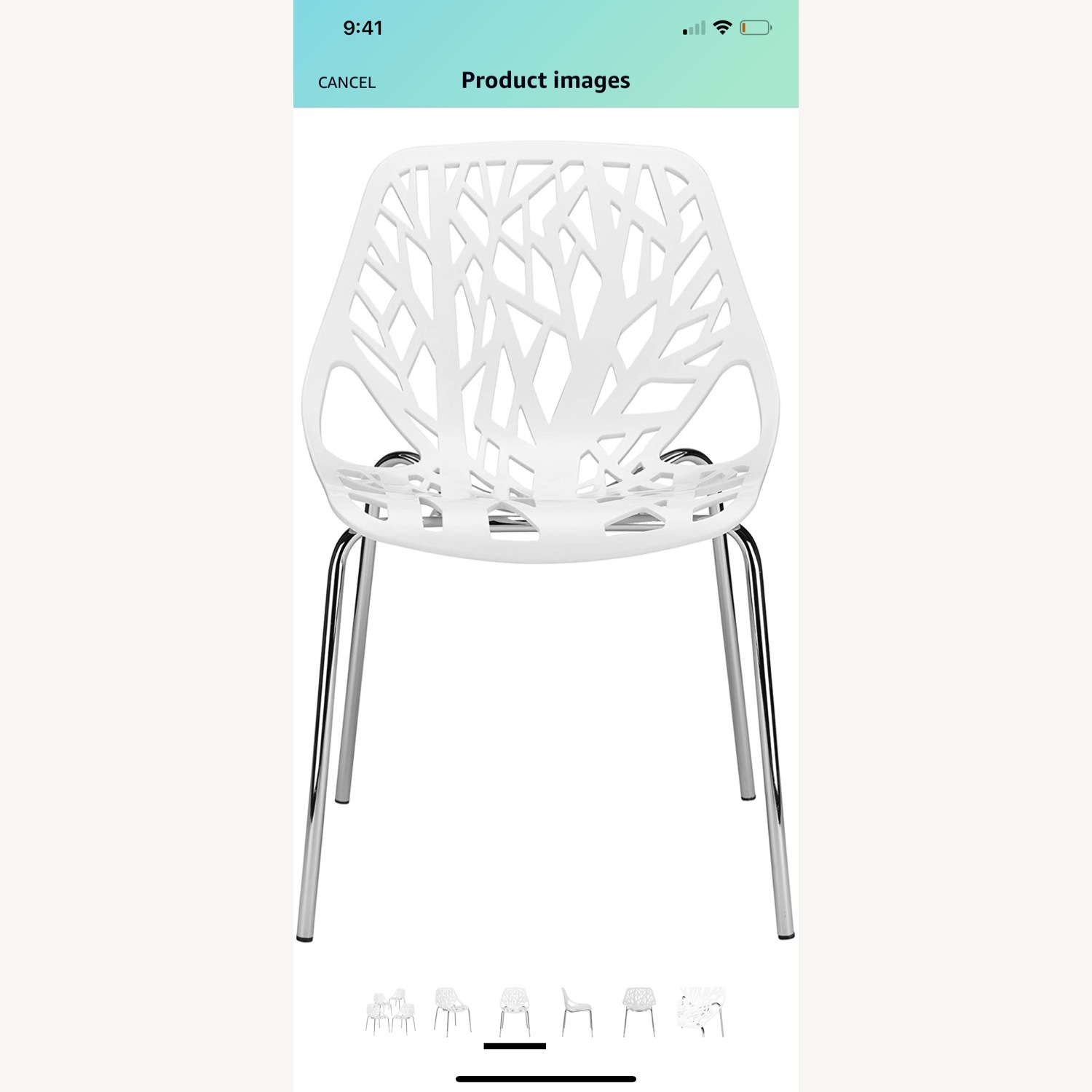EdgeStar Dining Chairs White with Chrome Legs - image-6