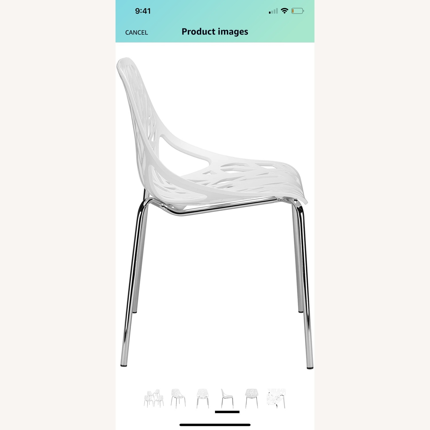 EdgeStar Dining Chairs White with Chrome Legs - image-7