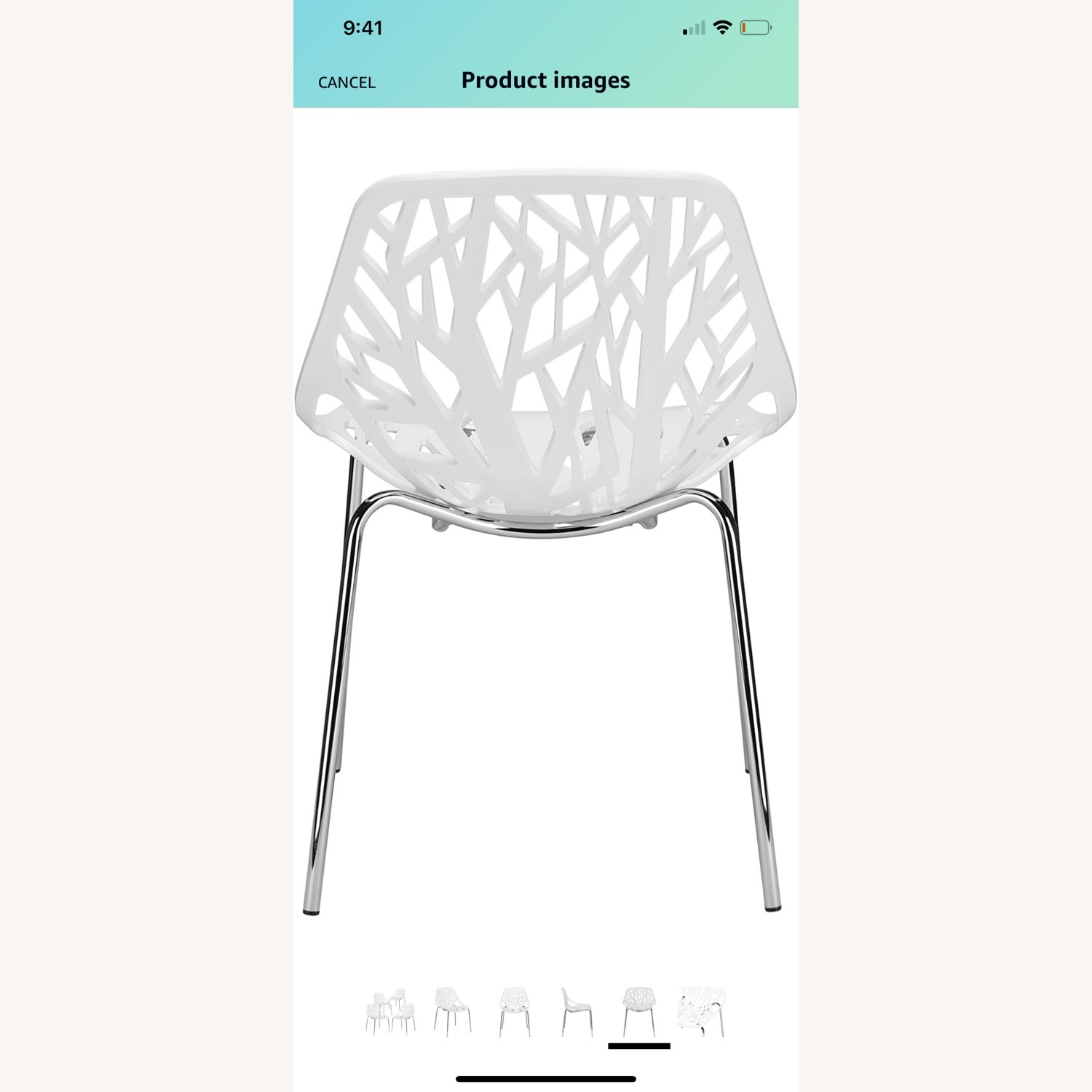 EdgeStar Dining Chairs White with Chrome Legs - image-8
