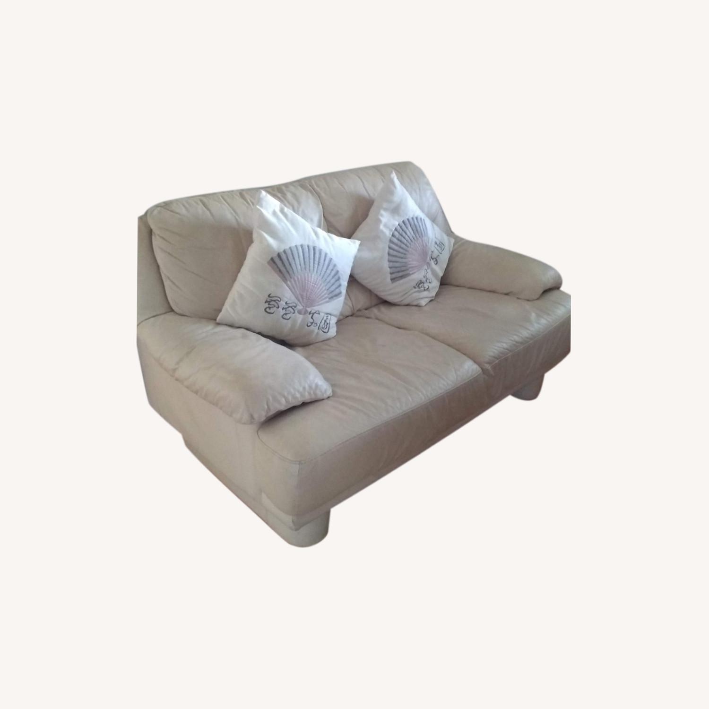 2 Seater Leather Sofa - image-0
