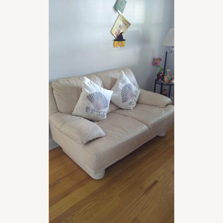 2 Seater Leather Sofa - image-1