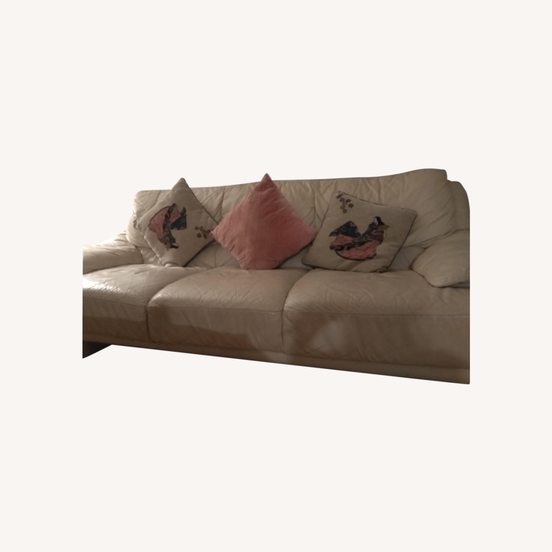3 Seater Leather Sofa - image-0