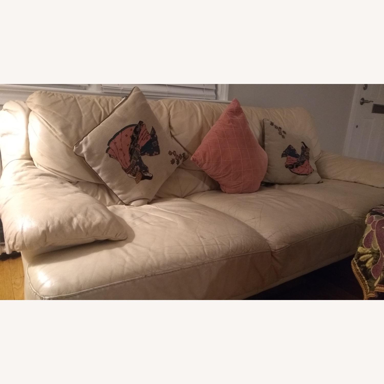 3 Seater Leather Sofa - image-1