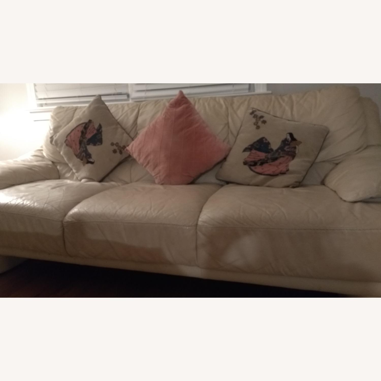 3 Seater Leather Sofa - image-2