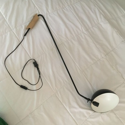 Used Two Lighting Mantis Swing Arm Wall Lamp Sconces for sale on AptDeco