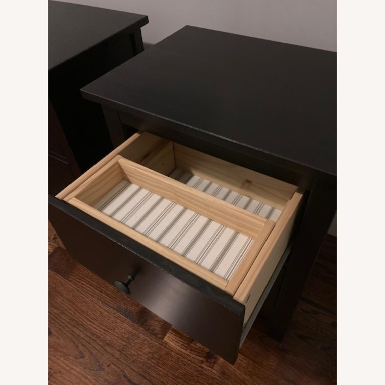 IKEA Hemnes Black-Brown Nightstand Pair - image-11