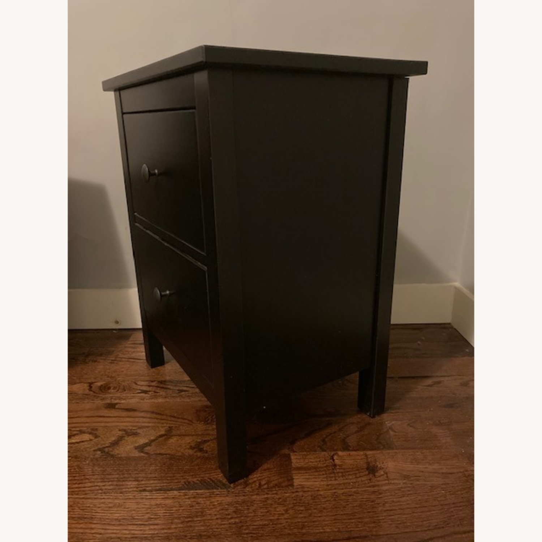 IKEA Hemnes Black-Brown Nightstand Pair - image-6