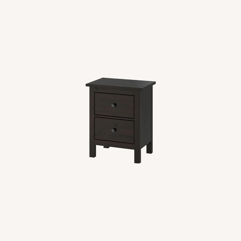 IKEA Hemnes Black-Brown Nightstand Pair - image-0