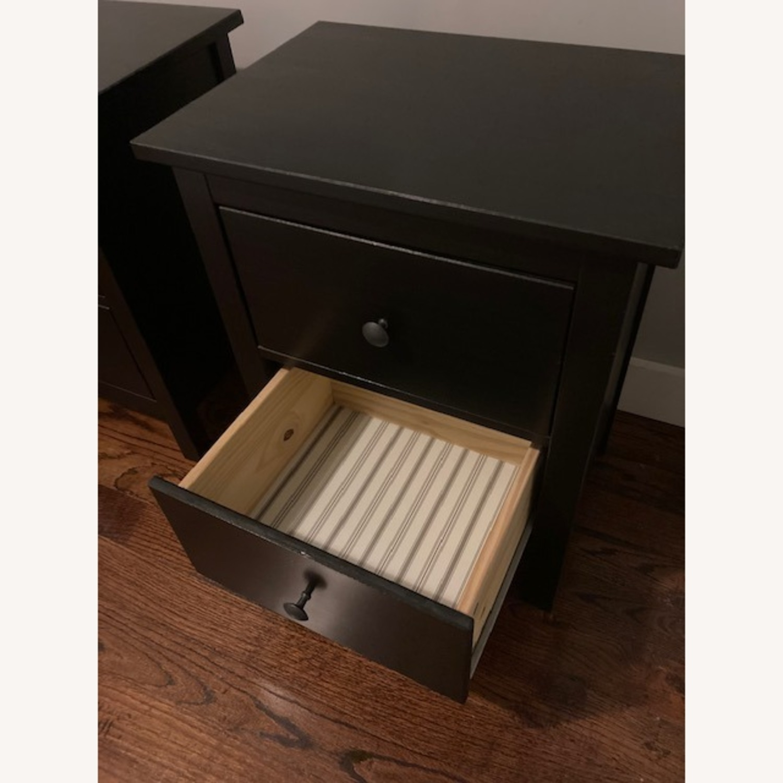 IKEA Hemnes Black-Brown Nightstand Pair - image-10