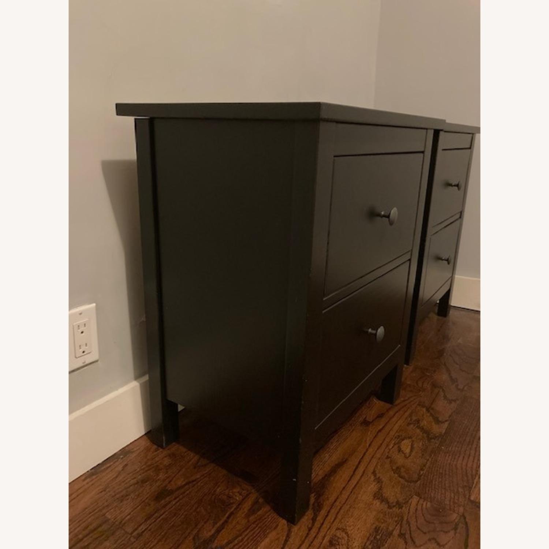 IKEA Hemnes Black-Brown Nightstand Pair - image-3