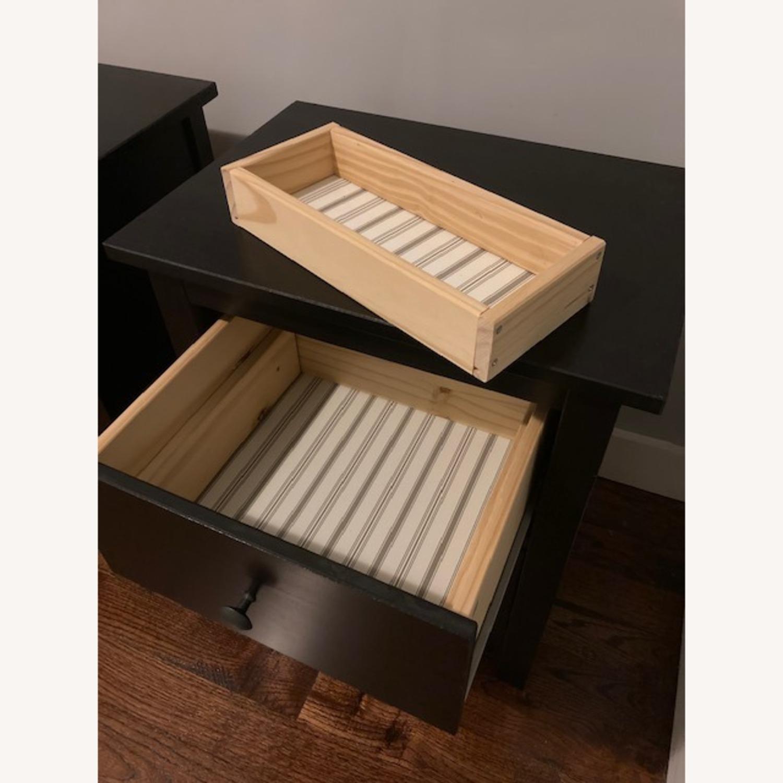 IKEA Hemnes Black-Brown Nightstand Pair - image-12