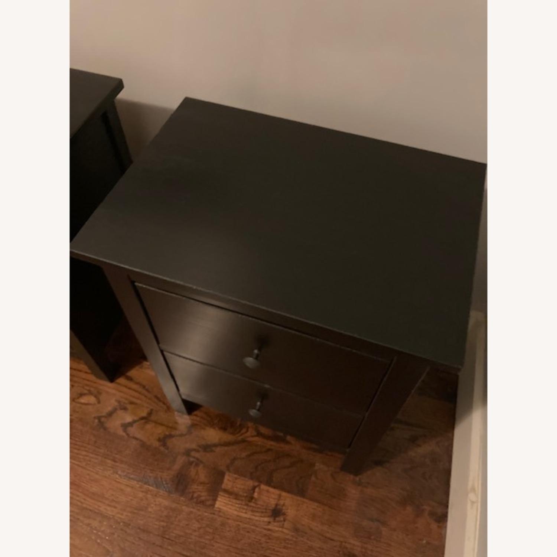IKEA Hemnes Black-Brown Nightstand Pair - image-7
