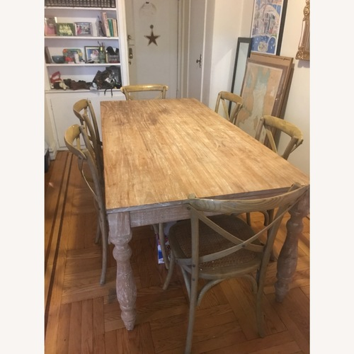 Used One Kings Lane Farmhouse Table and Chairs for sale on AptDeco