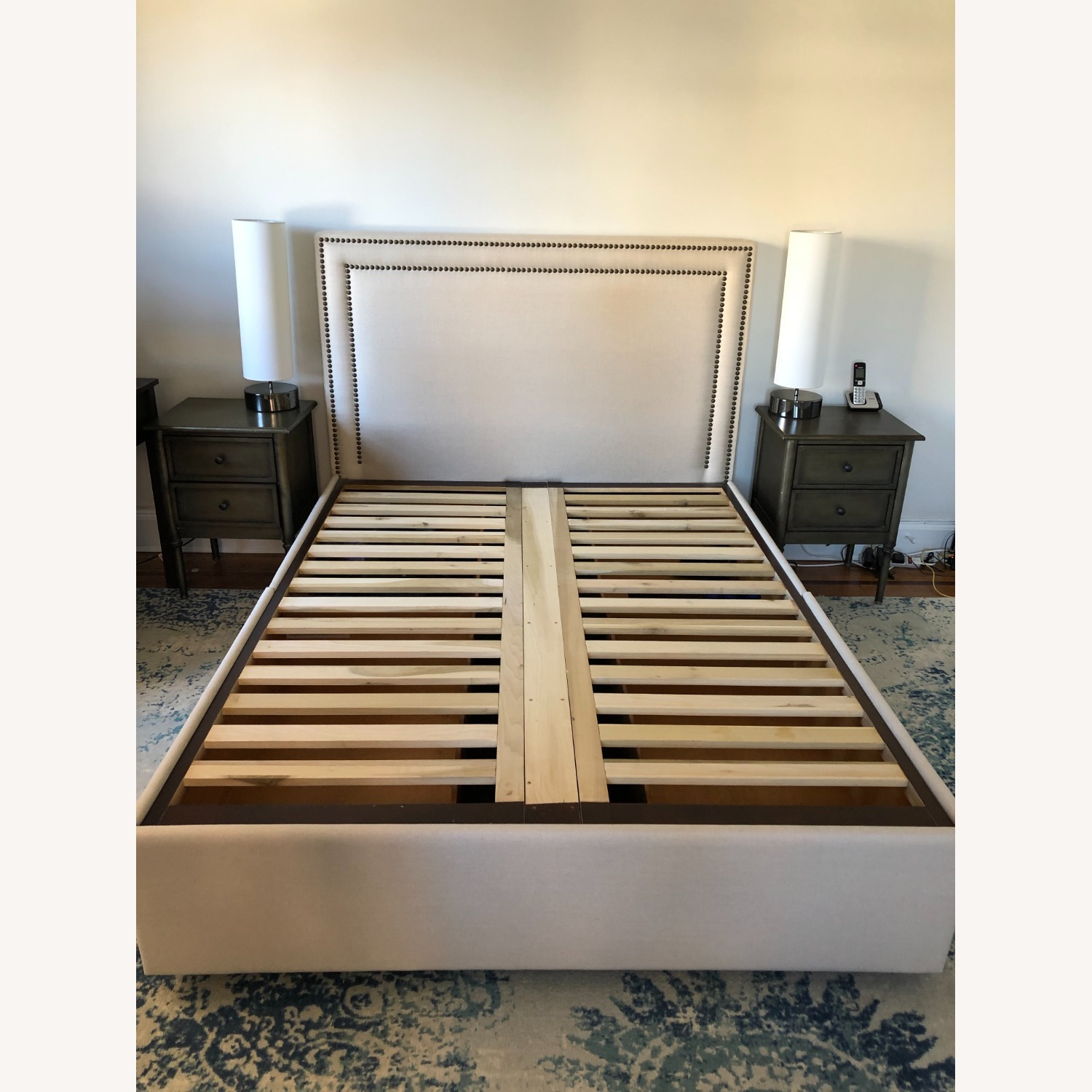 Pottery Barn Upholstered Queen Bed with Storage - image-2