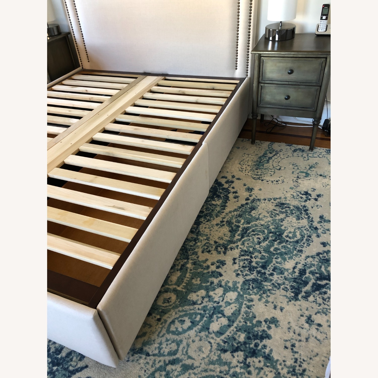 Pottery Barn Upholstered Queen Bed with Storage - image-3