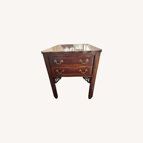 Used Lane End Table with Inlaid Walnut (Set of 2) for sale on AptDeco
