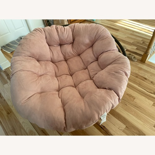 Used Cost Plus World Market Pink Papasan Chair for sale on AptDeco