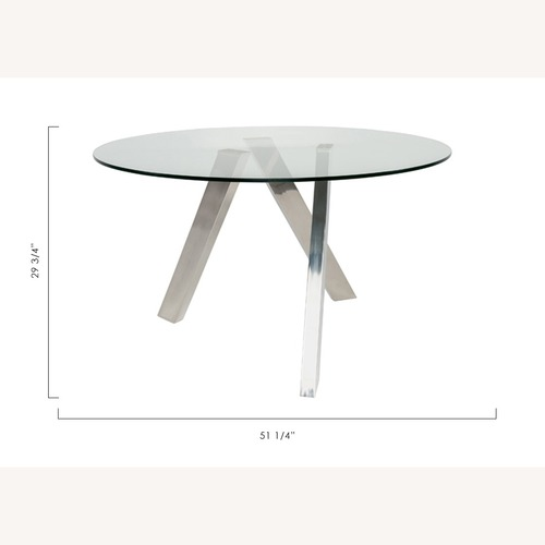 Used Modani Contemporary Glass Dining Table for sale on AptDeco