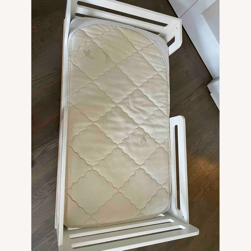 Used Ouef Classic Toddler Bed Birch/White for sale on AptDeco