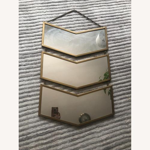 Used World Market Chevron Hanging Mirror for sale on AptDeco