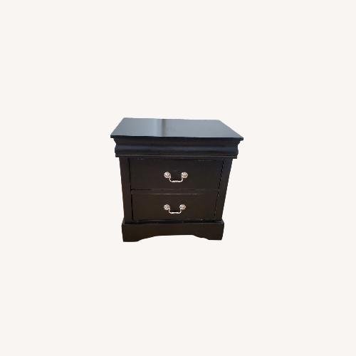 Used Louis Philippe Black Nightstand for sale on AptDeco