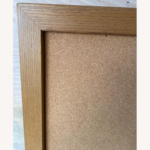Used Ethan Allen Canterbuy Oak Bulletin Board for sale on AptDeco