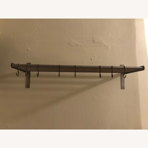 Used Stainless Steel Kitchen Shelf and Pot Rack Holder for sale on AptDeco