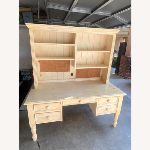 Used Antiqued Desk with Hutch for sale on AptDeco