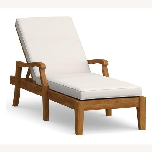 Used Pottery Barn Single Chaise Cushion-Natural for sale on AptDeco