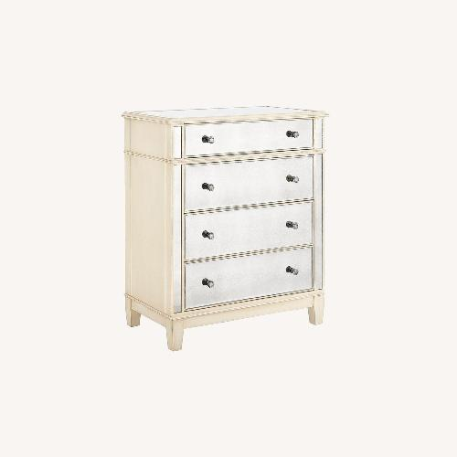 Used Pier 1 Hayworth Mirrored Antique White Chest for sale on AptDeco