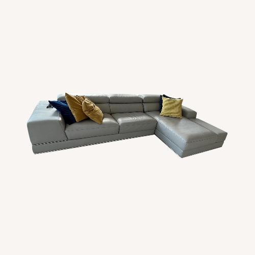 Used Modani Leather Sectional for sale on AptDeco