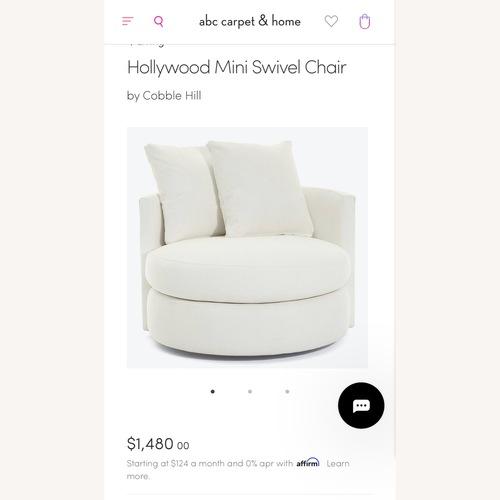 Used Abc Home Hollywood Swivel Chair for sale on AptDeco