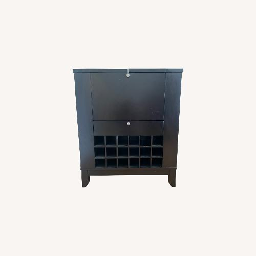 Used Modesto Brown Modern Bar and Wine Cabinet for sale on AptDeco