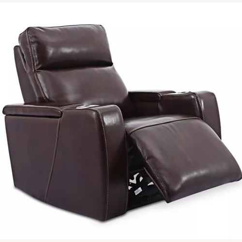 Used Macy's Leather Power Recliner With Power Headrest and USB for sale on AptDeco