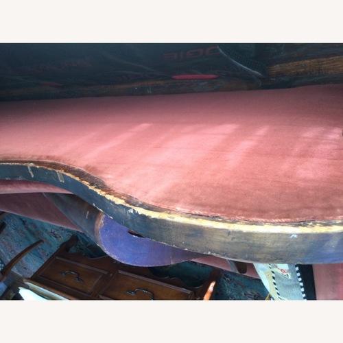 Used Victorian Velvet Settee Mahogany Frame for sale on AptDeco