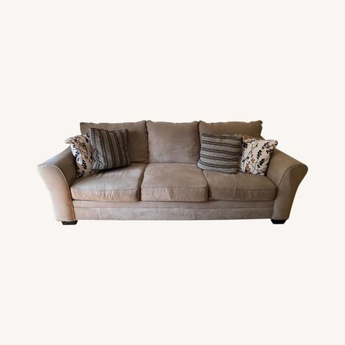 Used Ashley Furniture Morris Plains Tan Couch for sale on AptDeco