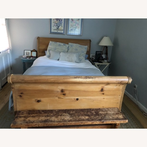 Used ABC Carpet Queen Sleigh Bed for sale on AptDeco