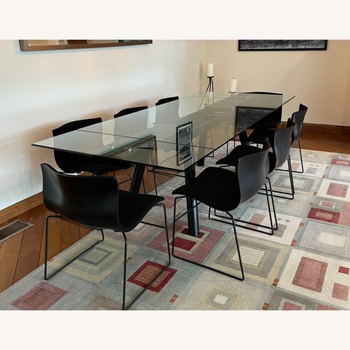 Used Exquisite Naos Table + 8 Massimo Vignelli Chairs for sale on AptDeco