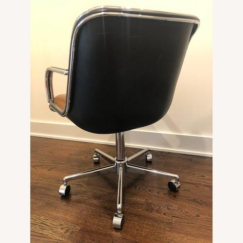 Used Vintage - Knoll Pollock Inspired Leather Chair for sale on AptDeco